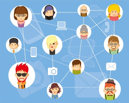 illustration of people communication Vector