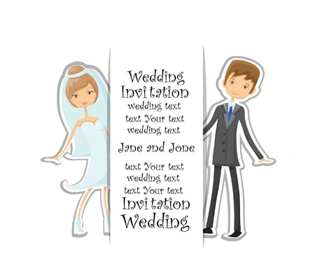 Doodle wedding invitation