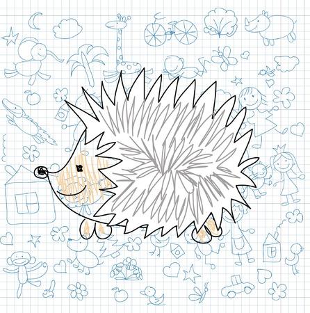 Cartoon doodle animal illustration 向量圖像
