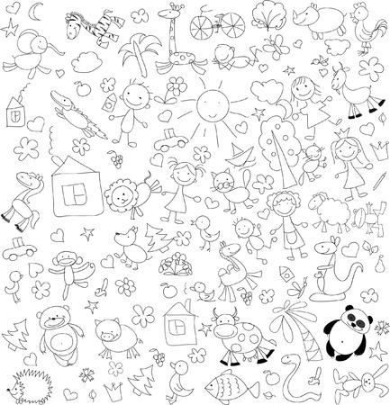 Children doodle illustration