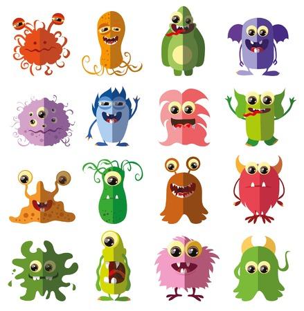 whimscal: Cartoon cute flat monsters