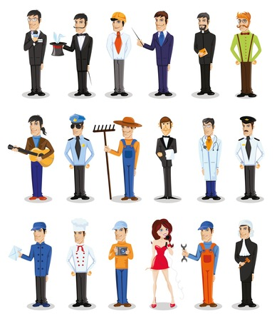 Cartoon vector characters of different professions Stock fotó - 36644843