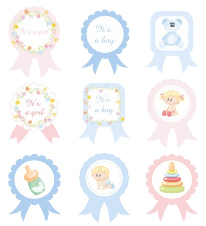 accessory: Vector illustration of different circle label Illustration