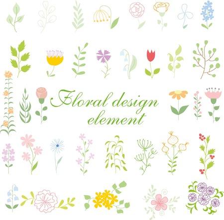 Set of wedding graphic set- wreath, flowers, arrows, hearts, laurel