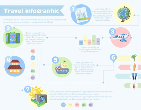 World Travel Template Design Infographic , concept vector illustration
