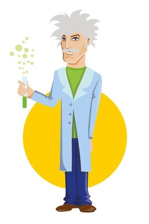 scientists: Cartoon scientists professor Illustration