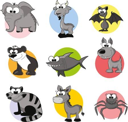 cute cartoon animals: Set of cute cartoon animals