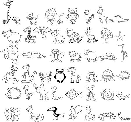 oso blanco: Dibujos Children39s de animales del doodle