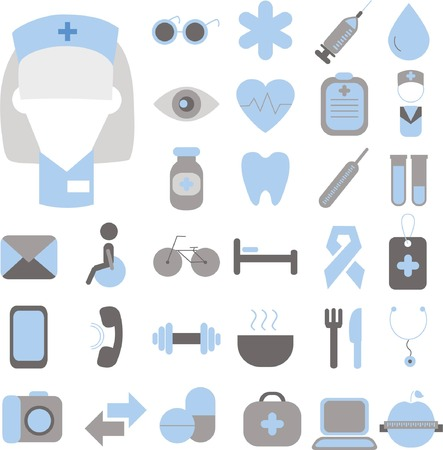 icone sanit�: Set of vector medical and health icons set for mobile and web