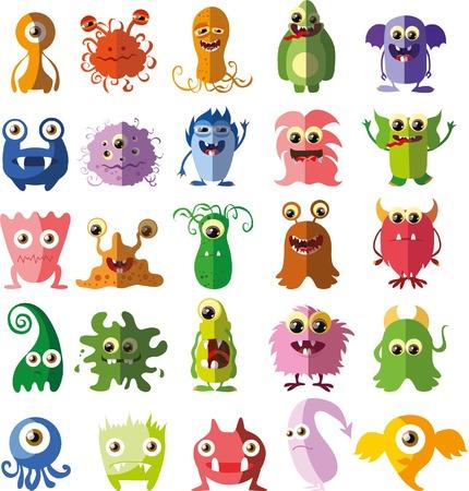 witty: Cartoon cute monsters