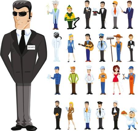 다른 직업의 만화 캐릭터