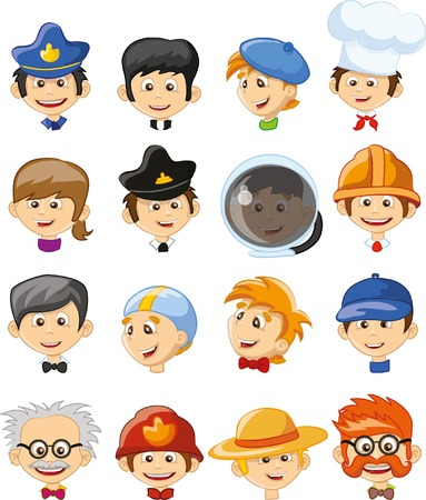 professions: Cartoon vector characters of different professions
