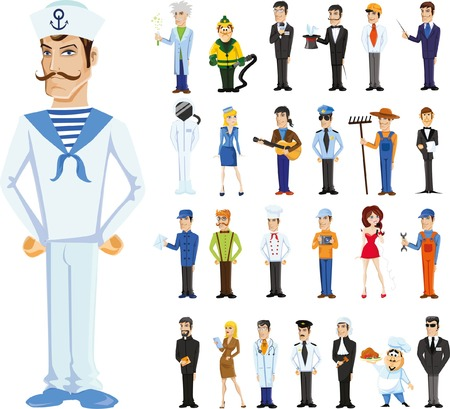 profession: Cartoon vector characters of different professions
