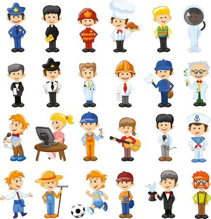 Cartoon vector characters of different professions 版權商用圖片 - 44927010