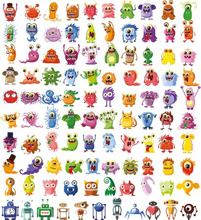 animali: Grande vettore serie di disegni di personaggi diversi