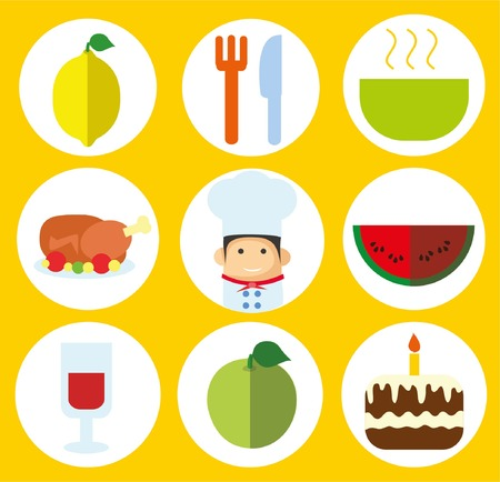 food preparation: Cooking and kitchen icons