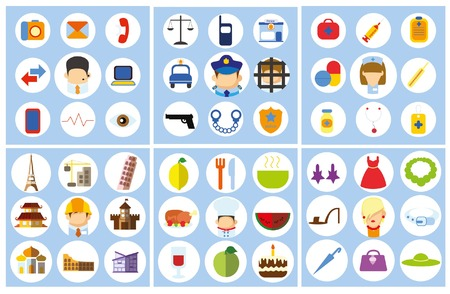 personne malade: Business concept icône plat profession de carrière Illustration
