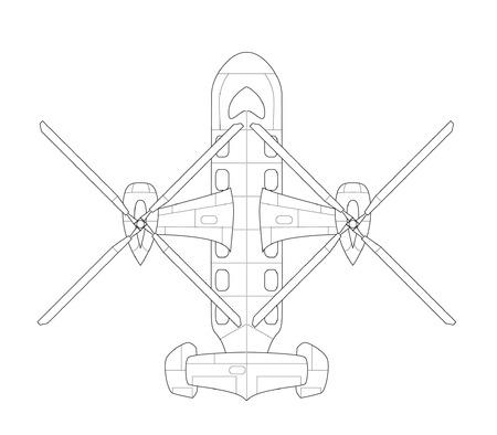Vector isolated plane icon
