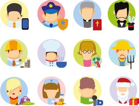 Concept flat icon career profession infographic design Illusztráció