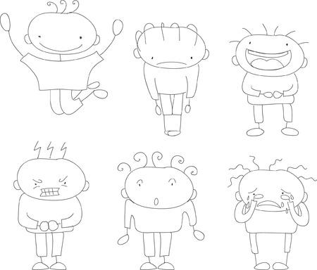 さまざまな感情をもつ漫画面を設定します。