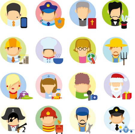 profession: Business concept flat icon career profession Illustration