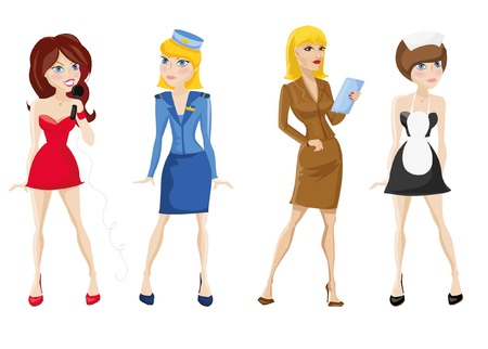 Cartoon vector characters of different professions
