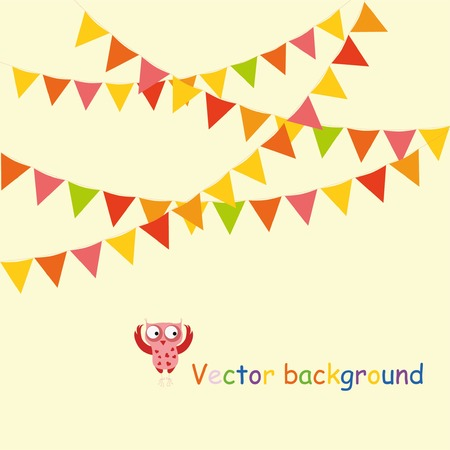 Multicolored bright buntings garlands Ilustracja