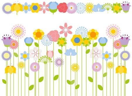 lily flowers set: flower background Illustration