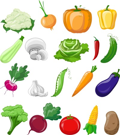 cartoon onion: Cartoon vegetables
