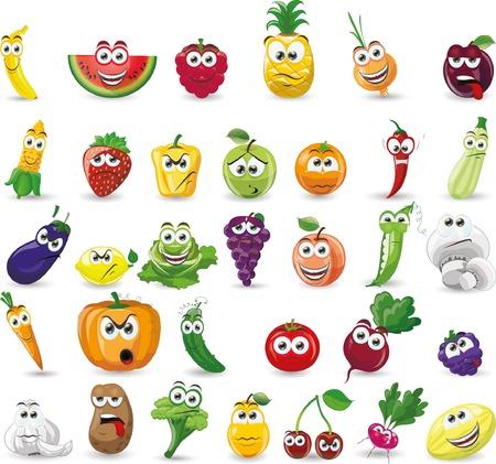 漫画の野菜や果物