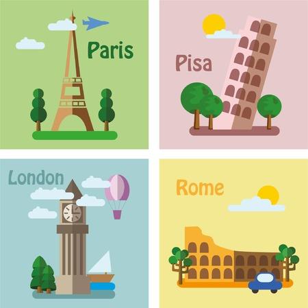 Iconos del recorrido. Pegatinas de viaje Conjunto Foto de archivo - 48616841