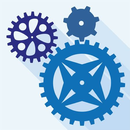Vector gearwheel mechanism icon