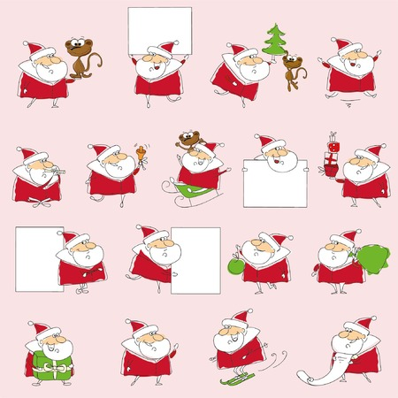 santa clause: Christmas set of santa claus Illustration