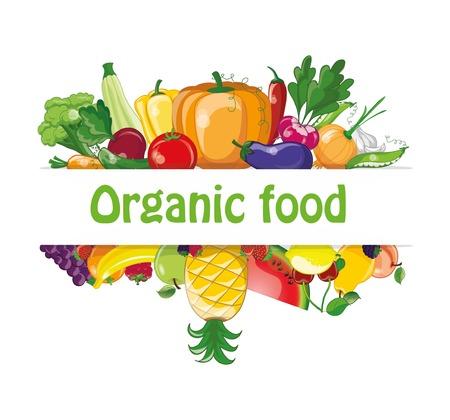 groenten en fruit cartoon Stock Illustratie