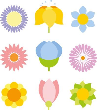 Flower icon collection - vector illustration Stock Illustratie