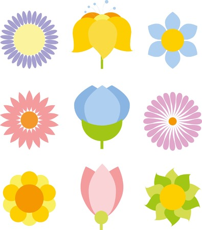 Flower icon collection - vector illustration Illustration