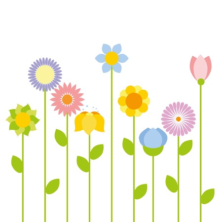 agriculture wallpaper: flower vector background