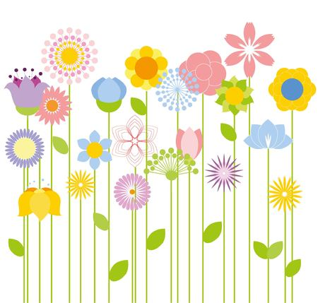 spring: flower background Illustration