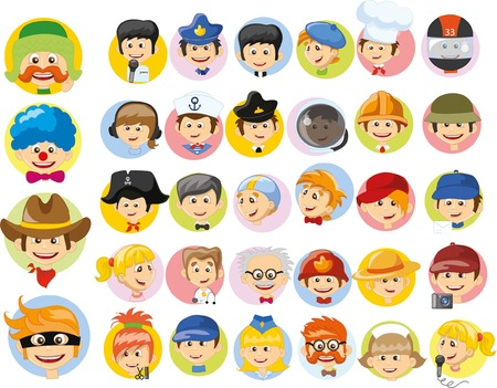 character set: Cartoon vector characters of different professions