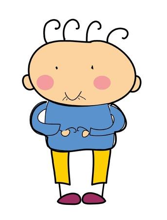 Kinderzeichnung doodle Junge Standard-Bild - 51084654