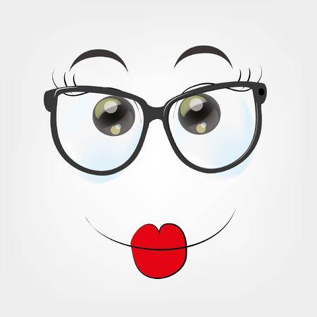 giggle: Cartoon happy face
