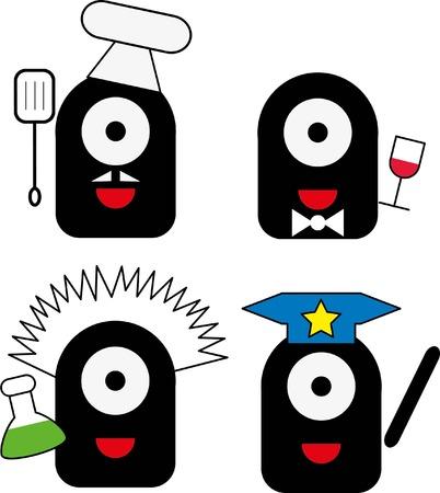 ugly gesture ugly gesture: Cartoon cute monsters