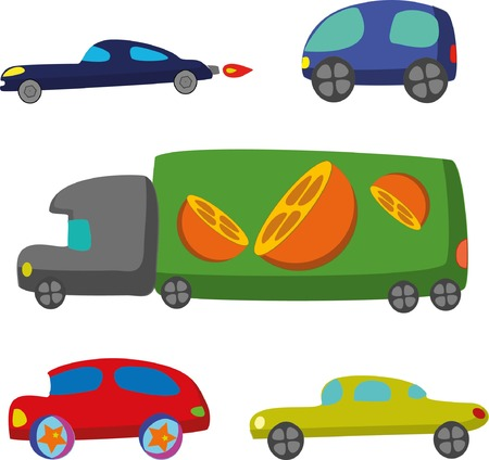 transport icons: Doodle transport car icons