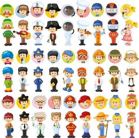 Cartoon vector characters of different professions Stock fotó - 63151981