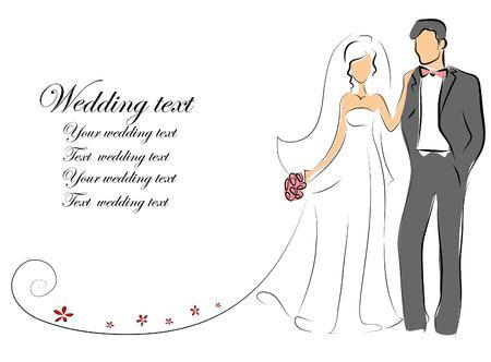 Cuadros de la boda, la novia y el novio en el amor