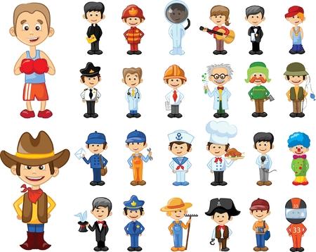 Cartoon vector characters of different professions Stock fotó - 63514410