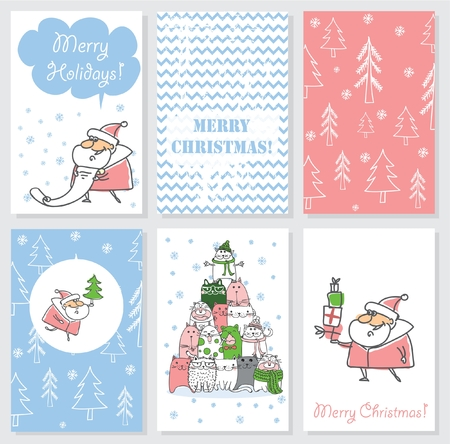 wish list: Collection of 6 Christmas card templates.