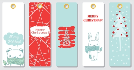 Collection of Christmas greeting cards templates