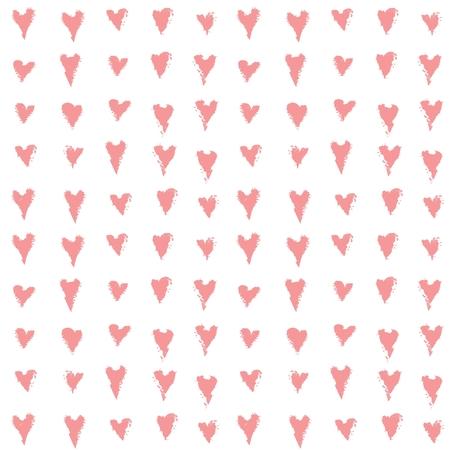 Vector hearts seamless pattern.