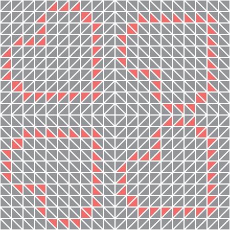 Abstract Geometric Triangle Seamless Pattern Illustration